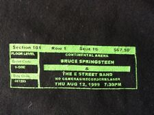 Bruce Springsteen/E Street Band T-Shirt Continental Arena August 12/99 Setlist