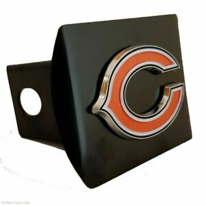 Fanmats NFL Chicago Bears 3D Color on Black Metal Hitch Cover Delivery 2-4 Days