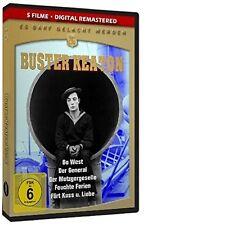 BUSTER KEATON - GO  WEST/GENERAL/DER METZGERGESELLE/FEUCHTE FERIEN  DVD NEU