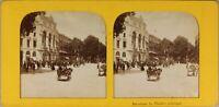Spagna Barcelona Il Théâtre Principale Foto Stereo Diorama Vintage Albumina
