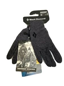 Black Diamond MidWeight Wooltech Gloves XS S Polartec Leather Palm Hiking NEW