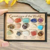 15 x Natural Chakra Tumbled Stone Mineral Crystal For Healing Feng Shui Decor