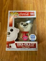 Funko Pop! Ad Icons Coca-Cola Polar Bear (Flocked) Vinyl Figure Brand New In Box