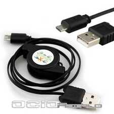 Cable Micro USB para BQ Aquaris 3.5 4 5 5 HD 5HD 5.7 Retractil Cargador Carga