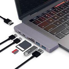 Aluminum 7 in1 USB-C Hub Dual Type-C 4K HDMI Converter For 2018 MacBook Pro/Air
