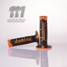 Domino A260 MX Soft Grips Black Orange Enduro Handle Bar Motocross Pit Dirt Bike