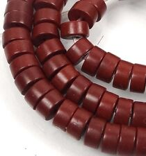 "6x3mm Turquoise Heishi Beads 16""  -  Brwon"