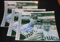 Orioles Milt Pappas Signed Vintage 8x10 Autograph No Hitter Wire Photo JB5