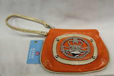 Kathy Van Zeeland Pop Culture Wristbag Clutch Purse Orange NEW WITH TAGS 2027