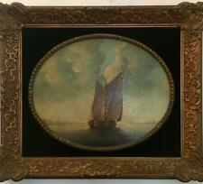 Dutch original antique oil painting on wood - sign and framed - museum quality