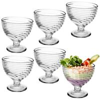 6 x Ice Cream Sundae Glasses Footed Appetiser Dessert Bowl Cocktail Fruit Salad