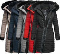 Navahoo Damen Winter jacke FVS2 Steppjacke Warm Parka Mantel langejacke TIRANA
