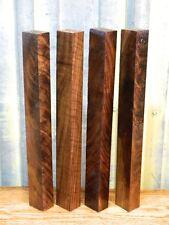 4- Super Highly Figured Black Walnut Pool Cue/ Turning Wood Blank 9363