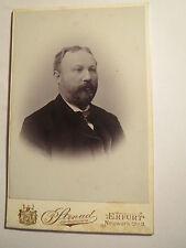 Erfurt - 1902 - Herr Sandrock ? als Mann mit Bart im Anzug - Portrait / CDV