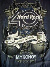 HRC Hard Rock Cafe Mykonos 40th Anniversary HRC 2011 Guitar Tee Size L