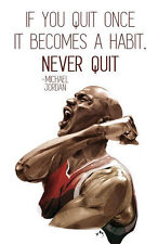 Don't Quit Quotes by M. Jordan Hihg  Quality Canvas wall arts choose your size