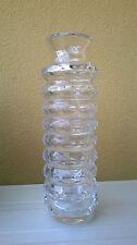 Vaso in cristallo 1960s 1970s Vintage design crystal glass vase