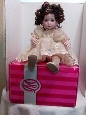 """Marie Osmond Crystal 15th Annivesary Doll 12"""" Seating"""
