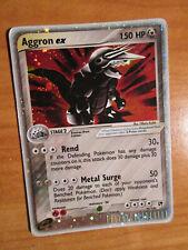 PL Pokemon AGGRON EX Card SANDSTORM Set 95/100 Ultra Rare Holo PLAYED AP#2