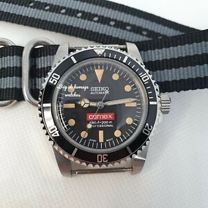 40mm SUBMARINER DIVERS WATCH MOD SEIKO NH35 RETRO COMEX DOMED VINTAGE