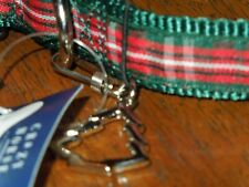 """Dog collar w Christmas tree charm Perfect Pooch Crazy Horse up to  15""""  Small"""