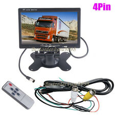 """7"""" 4Pin TFT LCD Car Rearview Monitor 2CH Video input For DVD & Reversing Camera"""