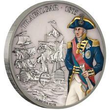 Niue 2 Dollar 2017 - Schlacht von Trafalgar - 1 Oz Silber Farbe Antik-Finish