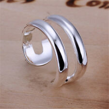 925 sterling Silver Plated Fashion Wedding Party Chain Cute women Rings Jewelry