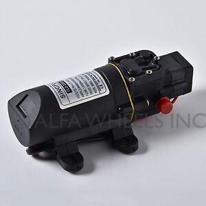 SINGFLO 12V 1 GPM 4 LPM 80 PSI 5 bar Water Pressure Pump Marine RV Boat Camper