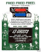 13 GHOSTS LOBBY CARD POSTER OS GHOST VIEWER 1960 CHARLES HERBERT WILLIAM CASTLE