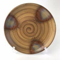 "Sango Splash 4951 Brown Drip Glaze 8-1/4"" Stoneware Salad Dessert Plate"