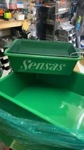 Sensas Green  tray small 35x25cm and pinkie riddle 1.9mm