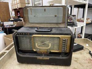 ZENITH Trans-Oceanic H500 Tube Shortwave Radio Parts Repair 1l6 Tube Tested Good