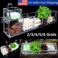 2-4 Grids Acrylic Aquarium Fish Tank External Hang On Filter Box Without Pump