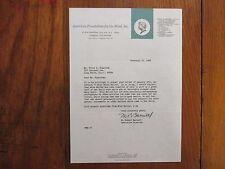 M. ROBERT BARNETT(American Foundation for the Blind) Signed 1968 Personal Letter
