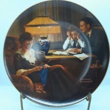 """Norman Rockwell """"Father's Help"""" Plate"""