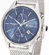 HUGO BOSS Jet Herrenuhr Modell 1513441 Edelstahl blau Chronograph Datum Chrono