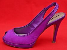 MARKS & SPENCER 'LIMITED COLLECTION' VIBRANT PEEP TOE HIGH SHOES - UK SIZE 4