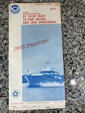 Vtg 1975 FL St Lucie Inlet To Ft Myers Nautical Chart 11428 Map 13th Ed. NOAA