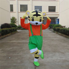 Tiger Mascot Costume Cosplay Adult Party Outfit Fancy Dress Animal Suit handmade