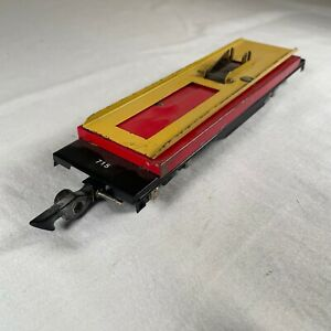 Vintage American Flyer 715 Auto Dump Car Only 1950 Yellow Red NO CAR