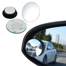 2pcs Car Rear View Blind Spot Mirror Convex Auxiliary 360° Wide Angle Adjustable