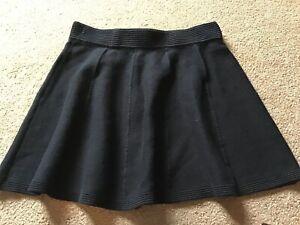 Cynthia Rowley Size L (uk 10) Black Cotton Blend Skirt
