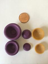 2 sets 3D Miniature dollhouse Bowl Flexible Push Mold for Polymer clay