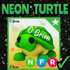 🐢 (NFR) NEON TURTLE 🐢 with Fly Ride. Adopt Me. Roblox. Legendary Pet game toy.