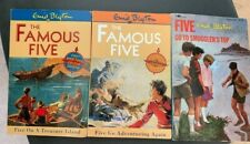 3 Enid Blyton Books The Famous Five Go Adventuring Again To Smuggler's Top pbs