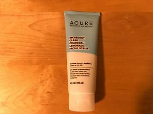 Incredibly Clear Charcoal Lemonade Facial Scrub Acure 4 fl oz Tube