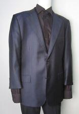 "Brooks Brothers ""Golden Fleece"" Navy Striped Union Made 2BTN  Men's Suit Sz 44R"