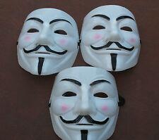 3 X V per Vendetta Guy Fawkes Maschera anonymous Halloween FALO' ** UK Fornitore **