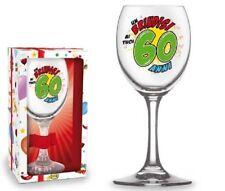 BICCHIERE 60 ANNI Calice vetro Gadget stampato idea regalo festa 60° Compleanno